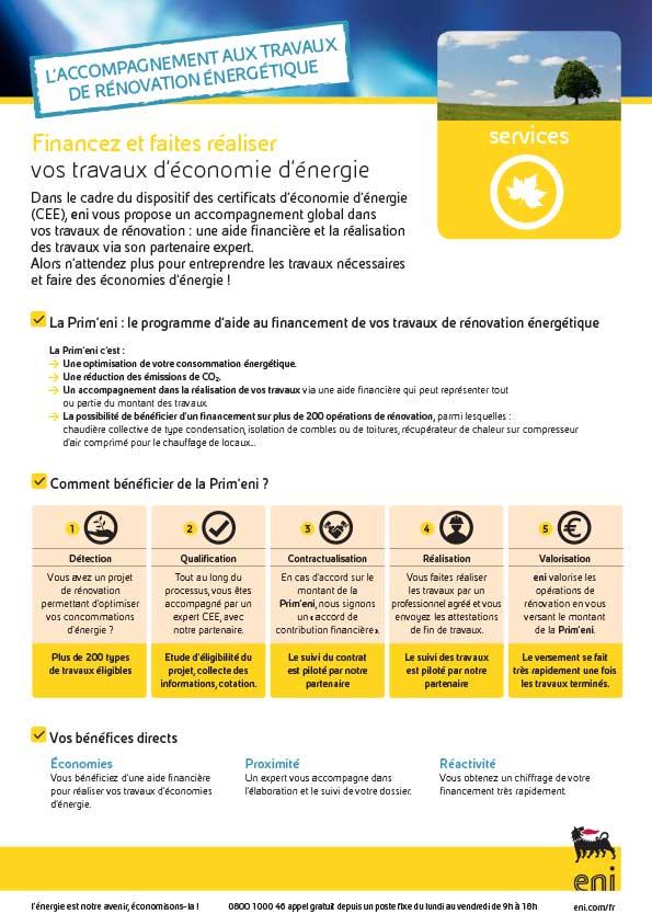 ACCOMPAGNEMENT AUX TRAVAUX D'ECONOMIES D'ENERGIES